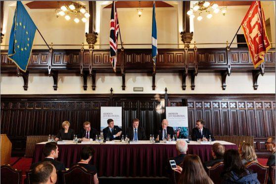 Aberdeen city region deal signing ceremony