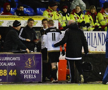 Jonny Hayes picked up the injury two weeks ago