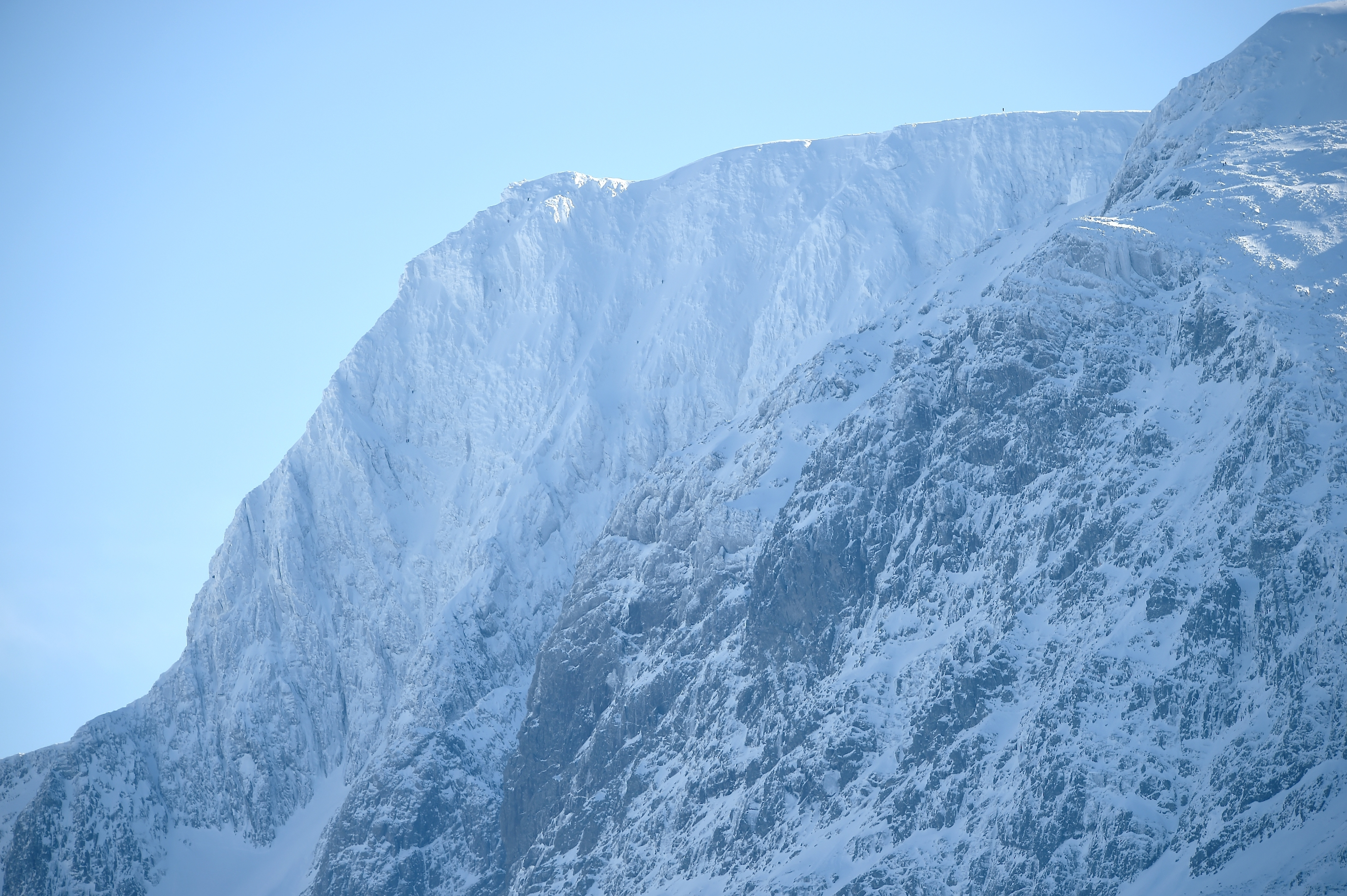 The north face of Ben Nevis in winter conditions
