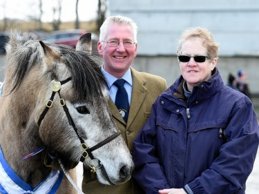 John Reid and Cilla Crockett. with the reserve champion.
