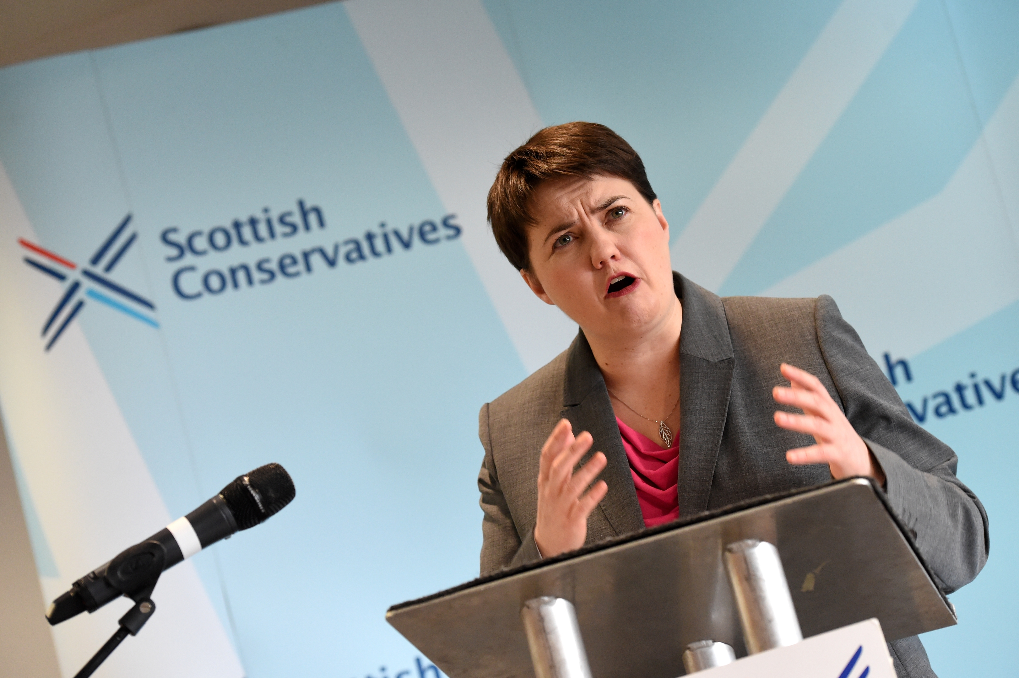 Ruth Davidson MSP, Leader of the Scottish Conservative and Unionist Party, speaking at a conference held at Hilton Treetops Hotel, Aberdeen.  Picture by KEVIN EMSLIE