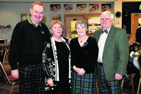 Mark and Aileen Strachan with Leslie and David Leslie