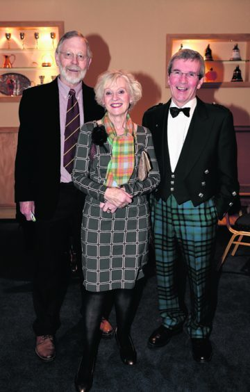 Andrew Wright with Doreen and Howard Hughes