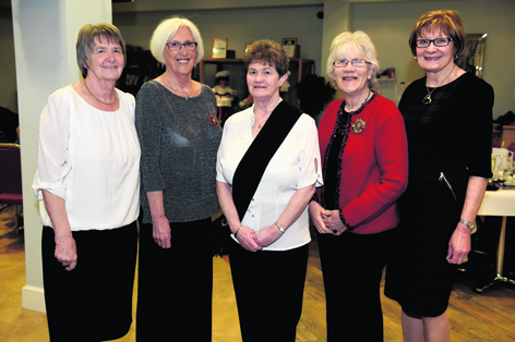 Janette Massie, Kitty Massie, Aileen Brooks, Maureen Dorwood and Marion Chalmers