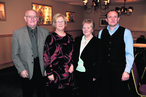 Bert and Pat Lawrie with Anne Gibson and Martin Howie