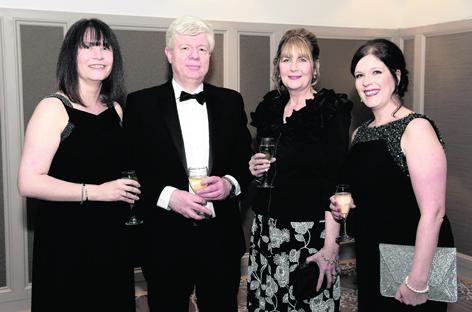 Caroline Bennett with Aidrian and Janice Hughes, and Mina Mearns