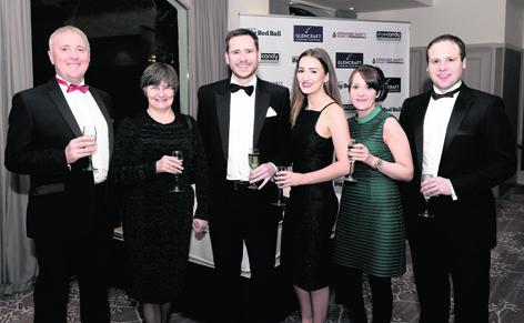 Raymond and Audrey Davidson with Ritchie Whyte, Alex Wheeler, Karen Crane and Callum Gray