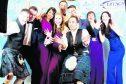 The Lifescan Scotland Dragons' Glen team: Mike Roberts, Graeme Robb, Dee Dias, Rebecca Wilson, Alex Cooper, Gordon Macleay, Mo Karim, Gail Beveridge and Mairi Laverty