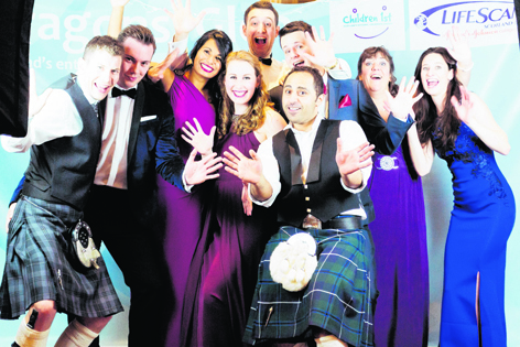 The Lifescan Scotland Dragons' Glen team: Mike Roberts, Graeme Robb, Dee Dias, Rebecca Wilson, Alex Cooper, Gordon Macleay, Mo Karim, Gail Beveridge and Mairi Laverty