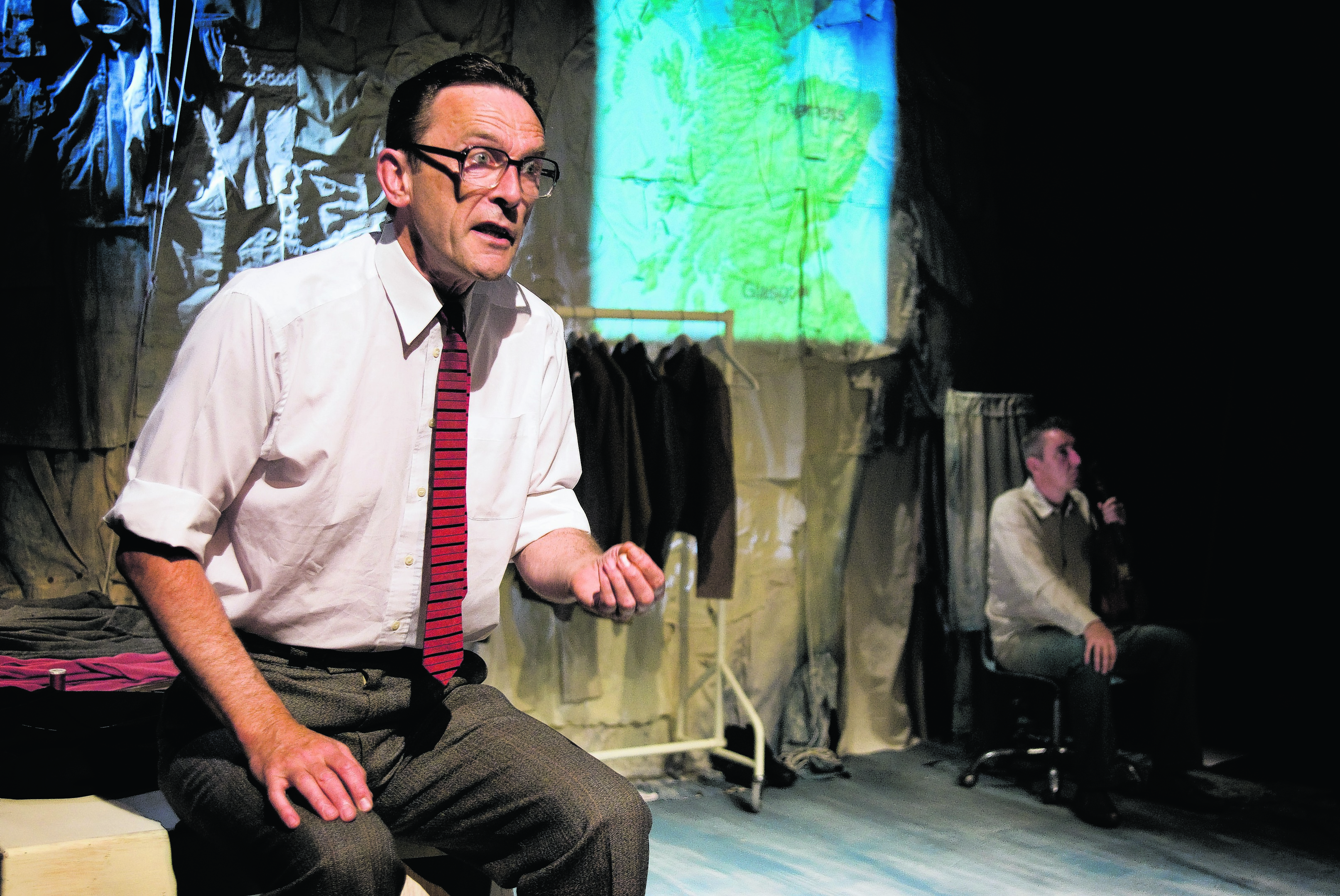 Matthew Zajac in The Tailor of Inverness, which is touring across the north and north-east of Scotland now