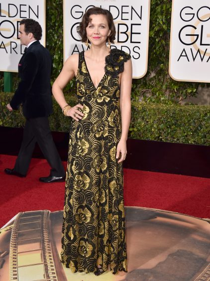 Maggie Gyllenhaal at the Golden Globes in Los Angeles