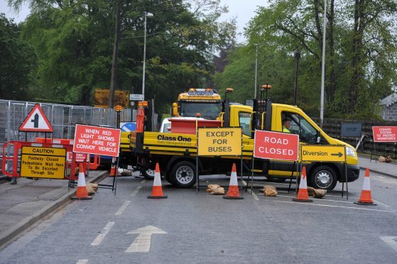 AWPR closures during work on the A93