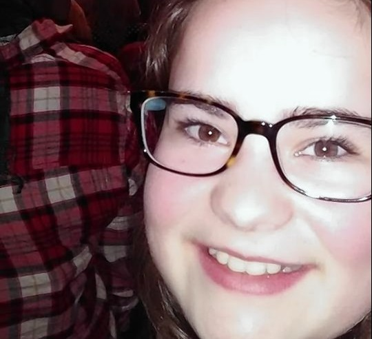 Chelsea Duncan at the Adele concert in Glasgow