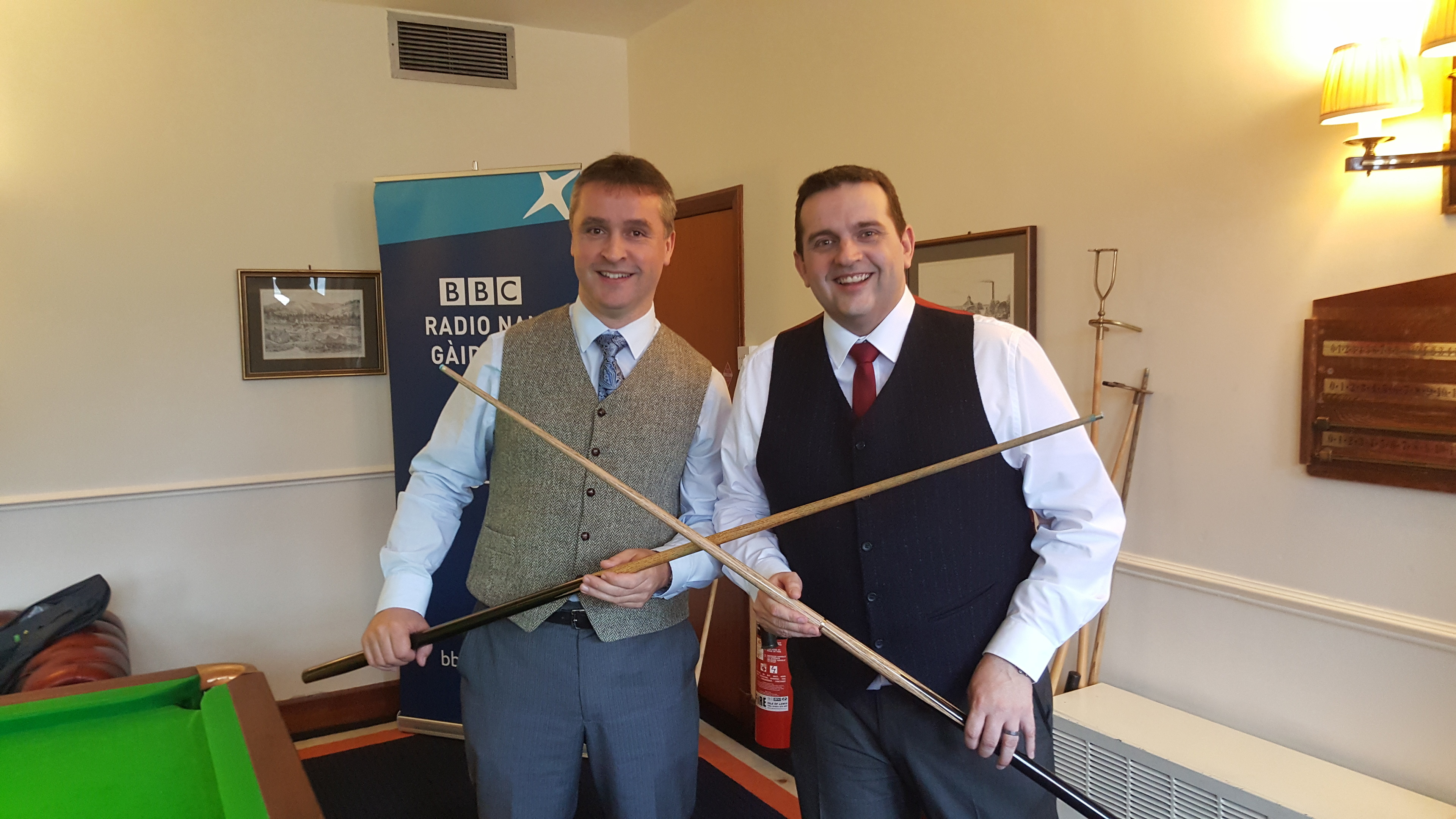 Angus MacNeil MP took part in a Snookerthon for Sport Relief