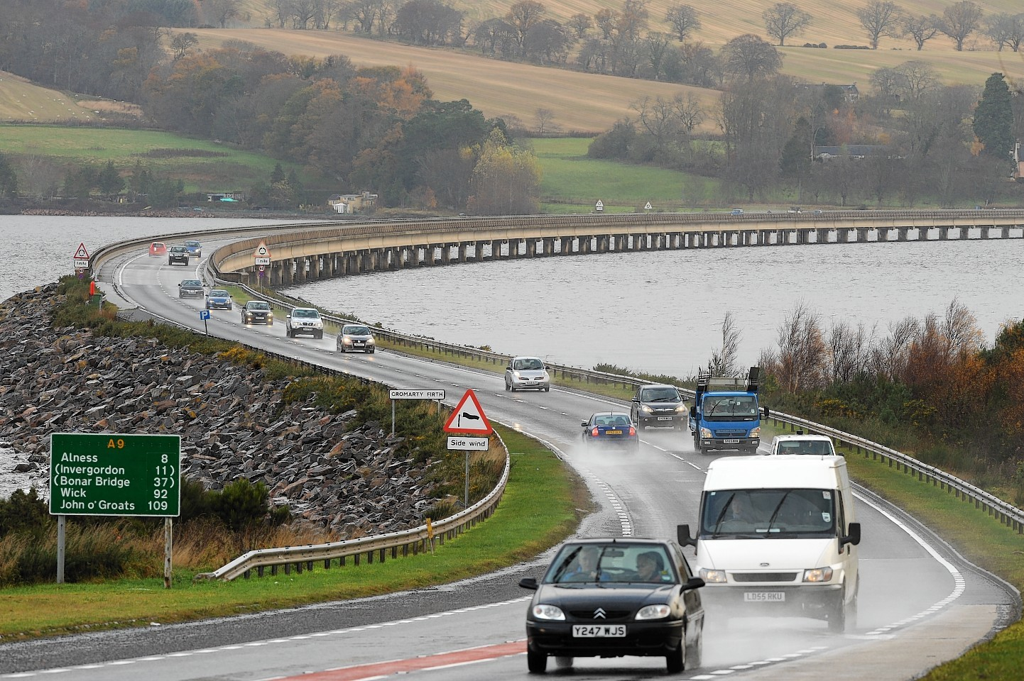Major roadworks are planned for the Cromarty Bridge