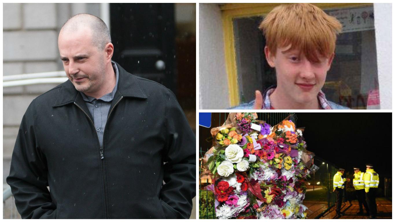 Paramedic Garry Gillespie, left, gave evidence yesterday
