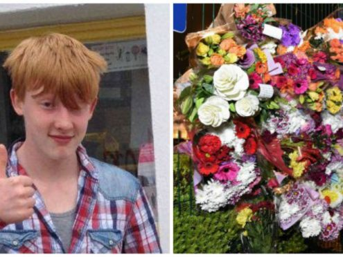 Bailey-Gwynne and floral tributes