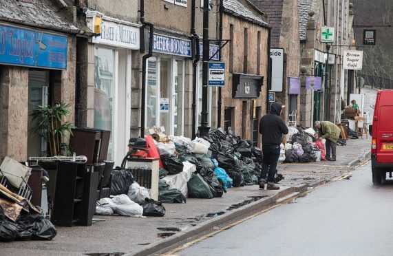 Ballater town centre was just one of a number of north-east areas hit by the floods
