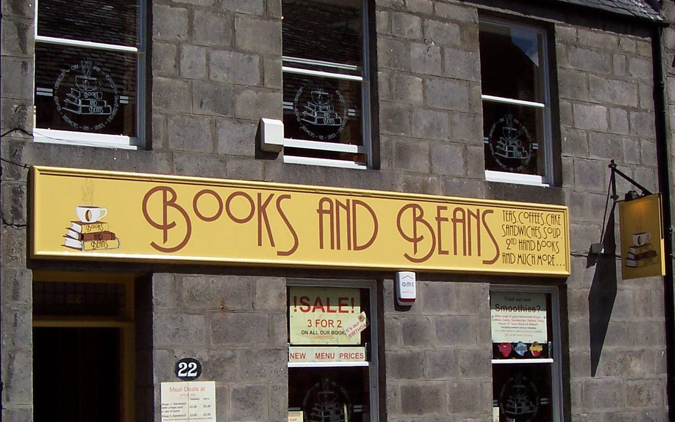 Books and beans, in Aberdeen city centre