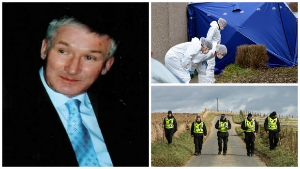 Police and forensic officers search for clues following Brian McKandie's death