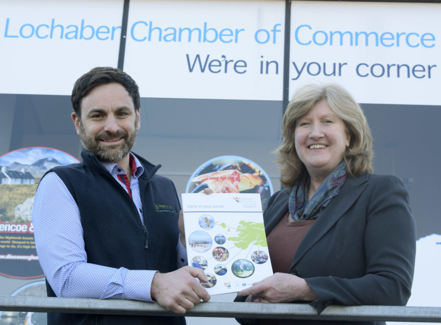 Lochaber Chamber of Commerce chairman Bruno Berardelli and chief executive Lesley Benfield