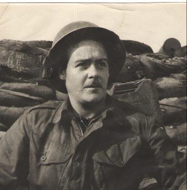 Kenny Stewart in Korea on February 6, 1953