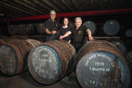 Diageo Chief Executive, Ivan Menezes and David Cutter, President of Global Supply & Procurement visit Islay to mark the 200th Anniversary of Lagavulin Distillery.