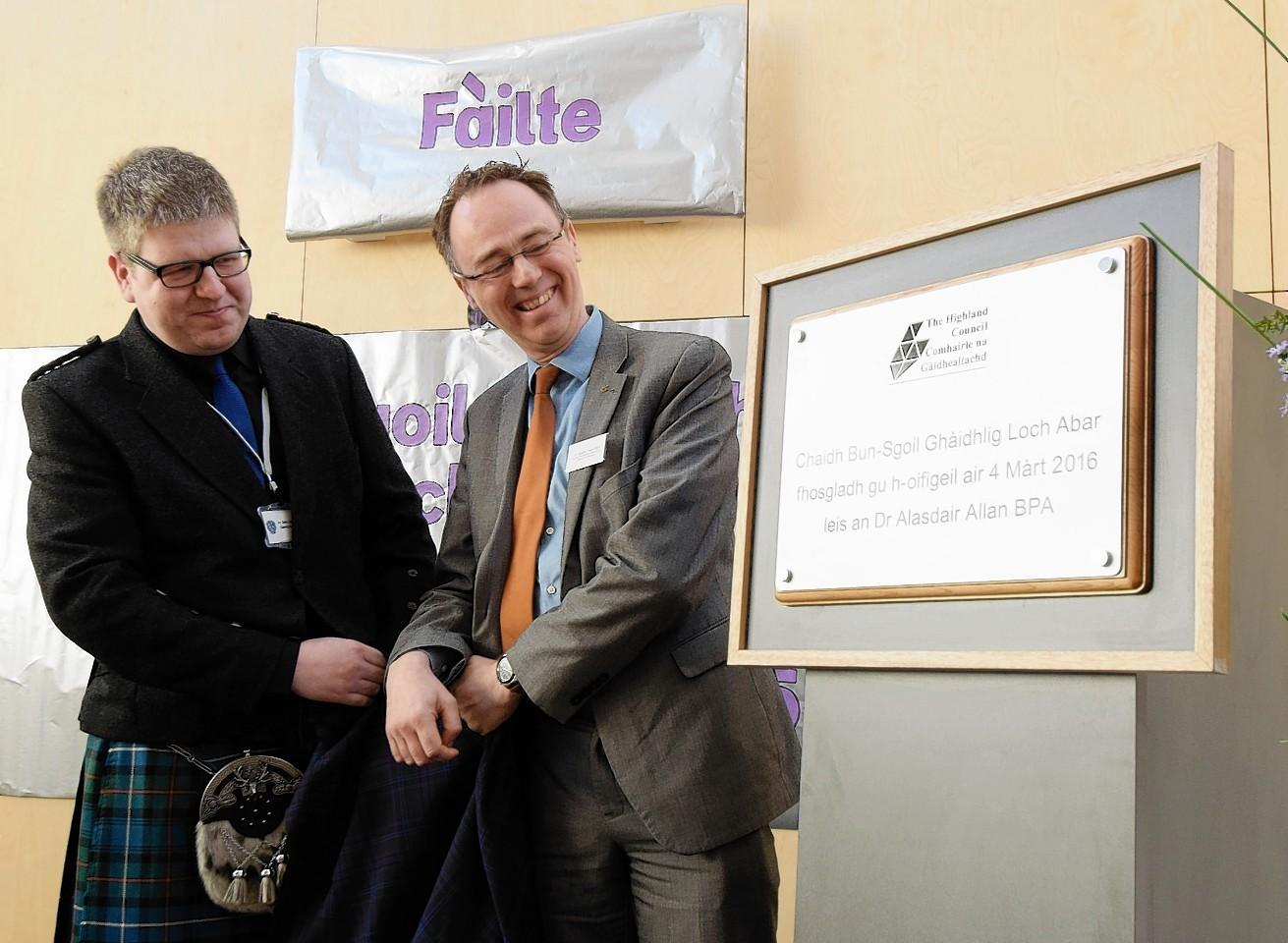 Opening of the new Gaelic school
