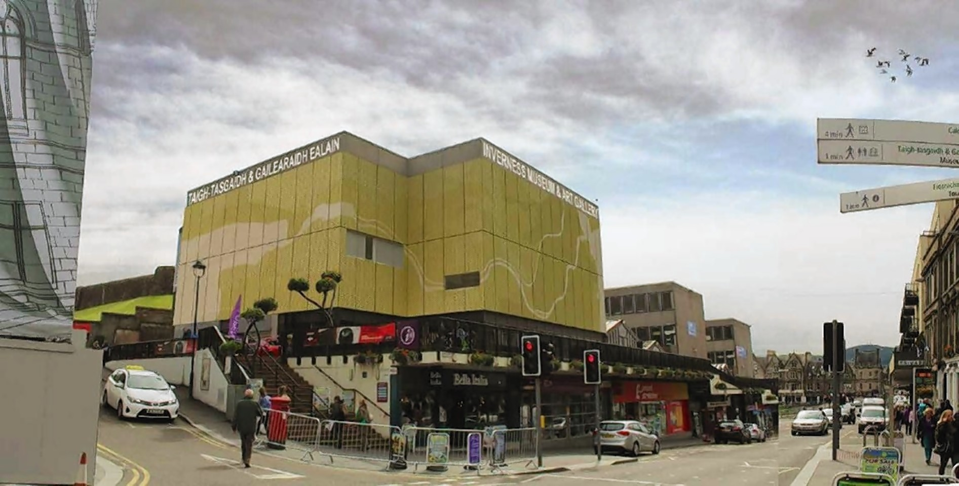 Artist's impression of the gold cladding