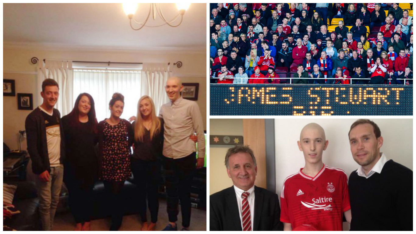 Dons fans paid tribute to James Stewart earlier today