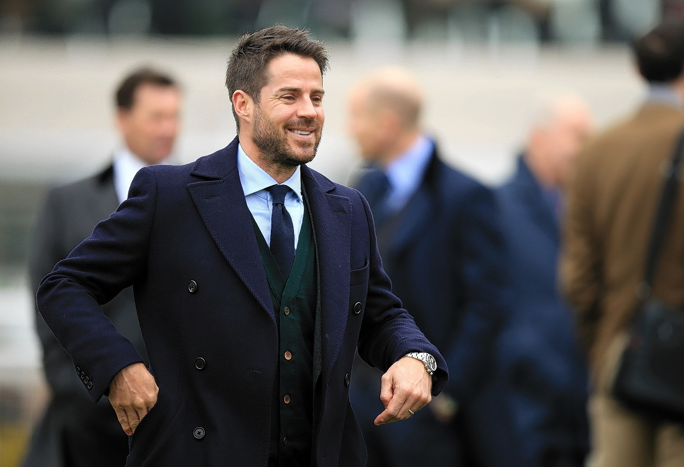 Jamie Redknapp during the opening day at Cheltenham