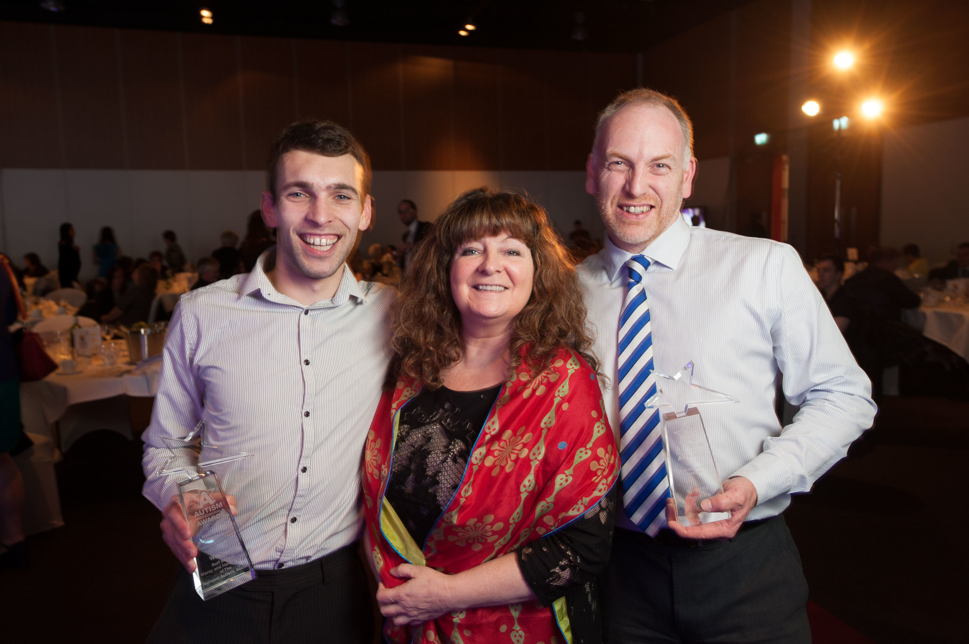 NAS Professional Awards 2016: Kev Anderson, Janey Godley and Glyn MOrris (Scottish Winners)