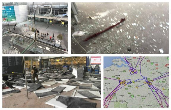 The attacks started around 7am yesterday when a double blast hit the city's Zaventem Airport.