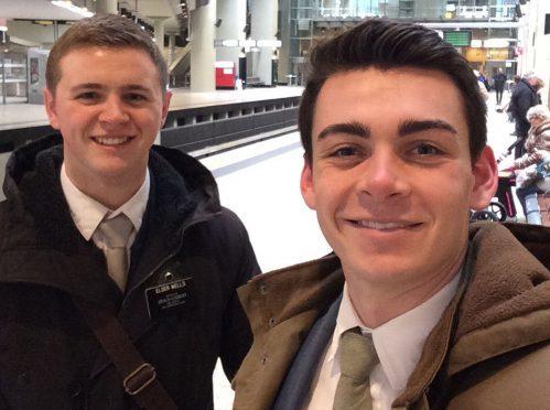 Mormon missionaries Mason Wells and Joseph Empey