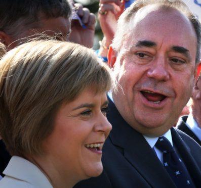 Nicola Sturgeon with former leader Alex Salmond