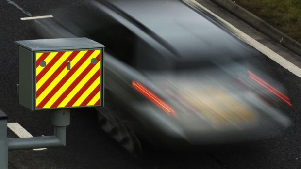 The driver of the red Volkswagen Golf was caught travelling over double the speed limit.