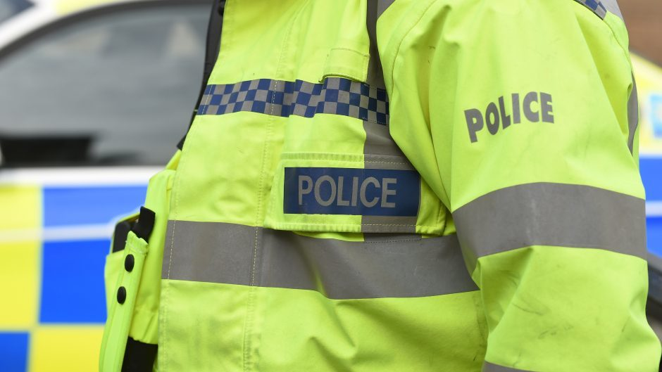 Police were called to the crash between a car and a motorbike.