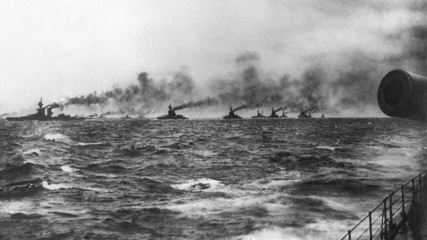 Battleships in the North Sea, as the anniversary of the Battle of Jutland in the First World War is to be marked with a major display (National Museum Of The Royal Navy/PA)