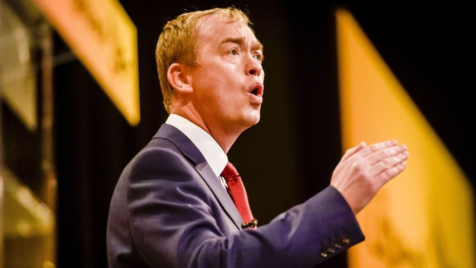 Tim Farron visited Aberdeenshire East yesterday