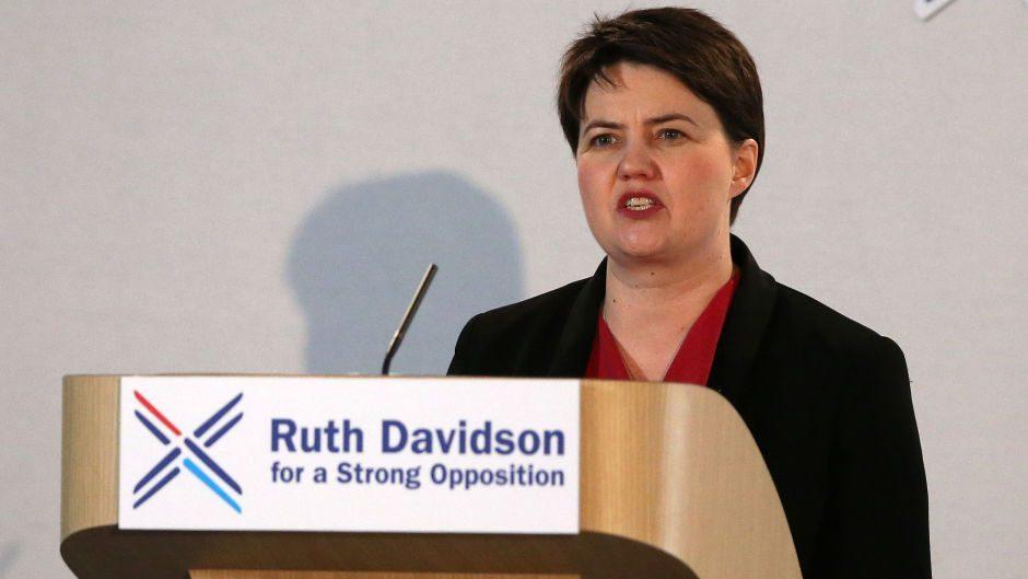 Ruth Davidson speaks at the annual Scottish Conservative conference at Murrayfield Stadium, Edinburgh