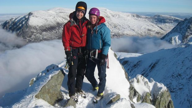 The bodies of a man and woman have been found on Ben Nevis, which are believed to be those of the missing climbers Rachel Slater and Tim Newton (PA/Police Scotland)