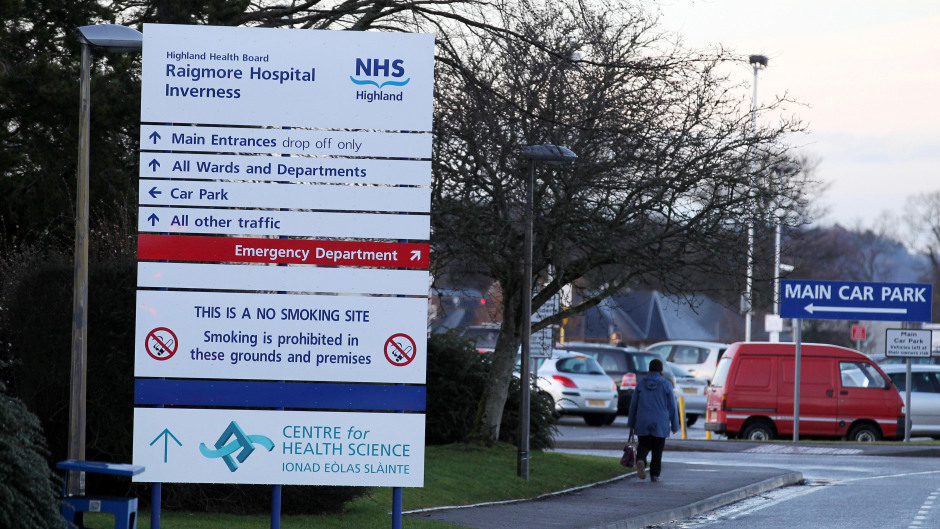 The 74-year-old man was taken to Raigmore Hospital but died a short time later