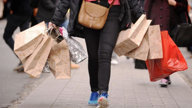 High street sales dropped in Scotland last month.