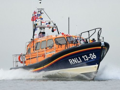 Peterhead lifeboat has been launched