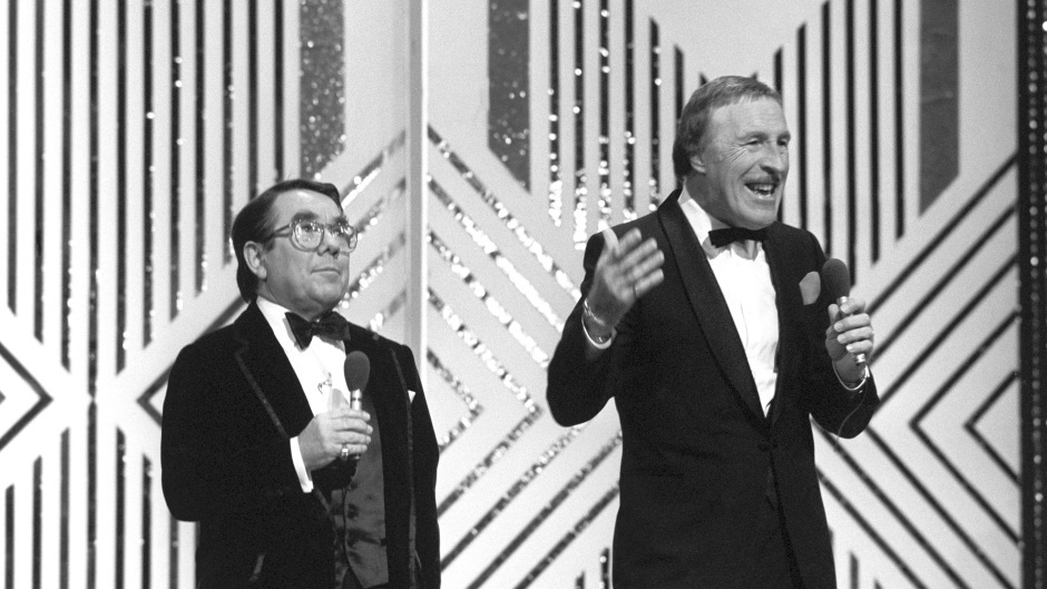 Ronnie with Bruce Forsyth as they co-hosted the Royal Variety Performance