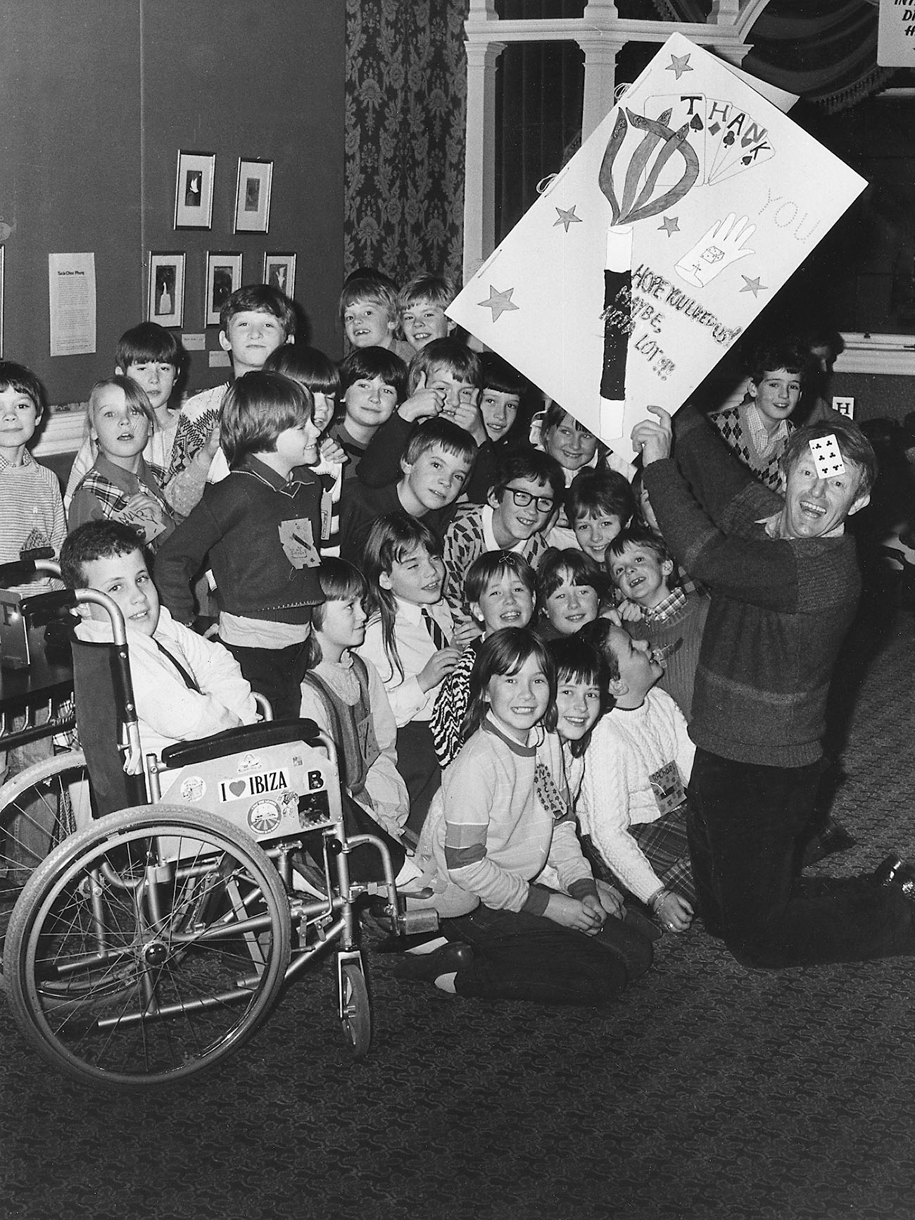 Aberdeen schoolgirl Judith Drummond and her classmates at Dyce Primary had a truly 'magic' lesson from illusionist Paul Daniels who had been appearing at HMT in 1984.