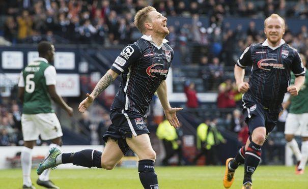 Michael Gardyne scored in Ross County's League Cup final win against Hibs.