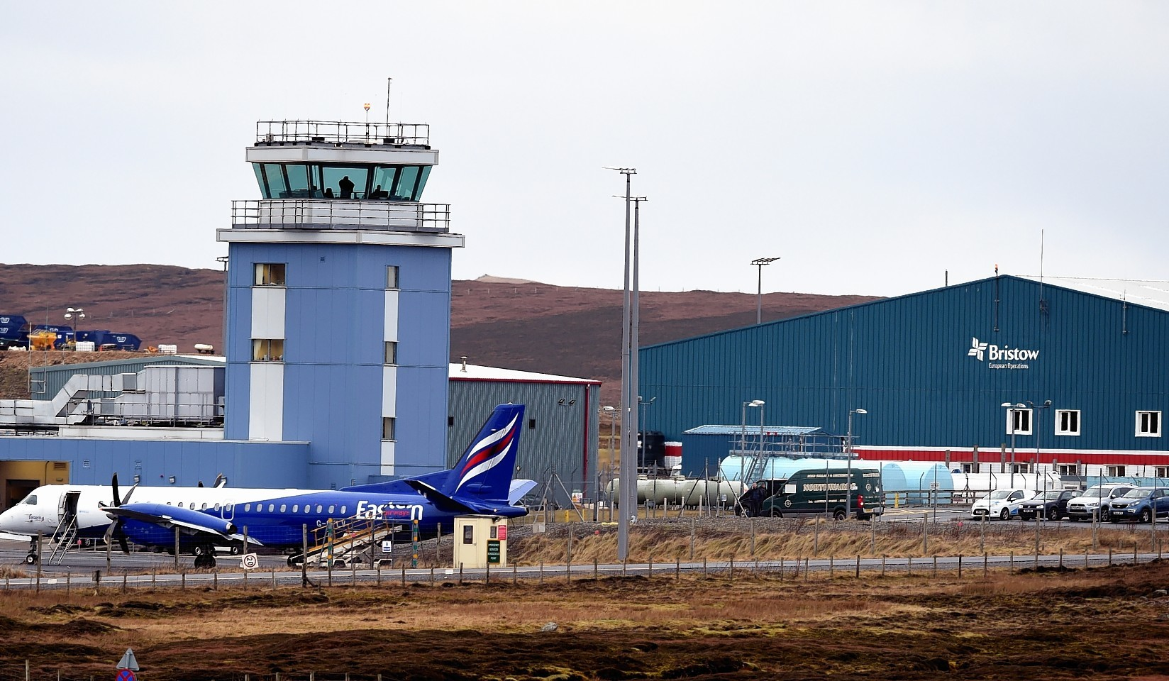 Scatsta Airport in Shetland. Picture by Jim Irvine.