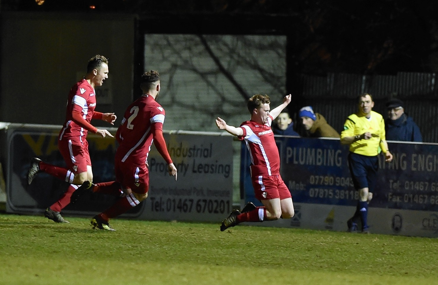Ifana Jones (8) celebrates his goal. Picture by Colin Rennie