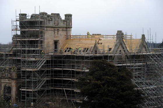 Work being done to redevelop Ury House.